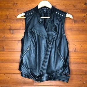 Forever 21 Faux Leather Vest size M